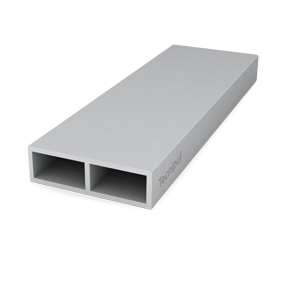 Rectangular profile with GRP rib